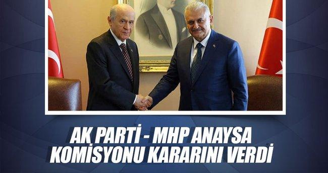 Ak Parti - MHP anayasa komisyonu kararını verdi