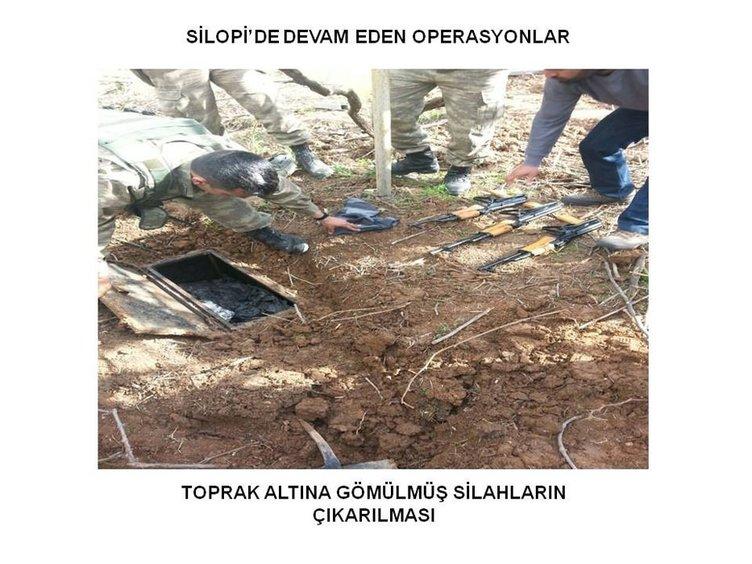Silopi'de yer altına gömülü silahlar bulundu!