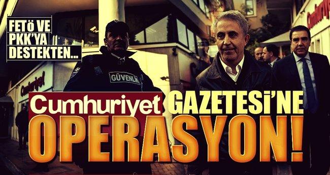 Cumhuriyet'e FETÖ ve PKK'ya yardım operasyonu