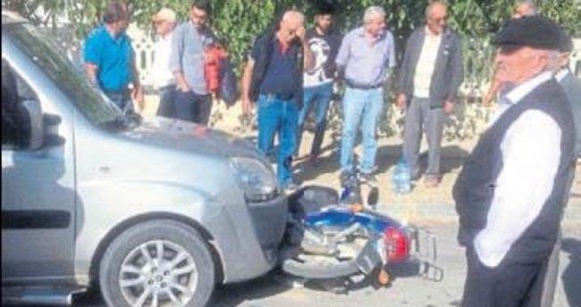 Şarkikaraağaç'ta kaza: 2 kişi yaralı