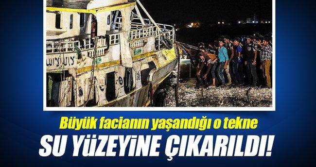 Akdeniz'de batan göçmen teknesi su yüzeyine çıkarıldı!