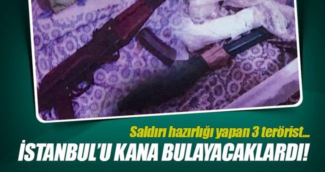 İstanbul'da saldırı hazırlığındaki 3 terörist tutuklandı!