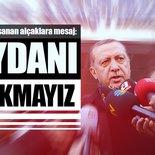 Cumhurbaşkanı Erdoğan'dan İstanbul patlamasına ilişkin açıklama