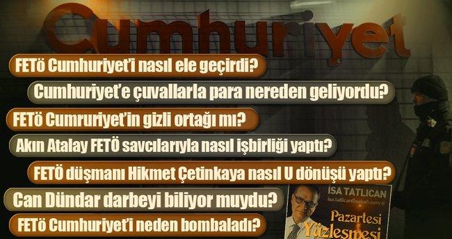 """""""FETÖ'nün ilk suçu Cumhuriyet'in bombalanmasıydı"""""""