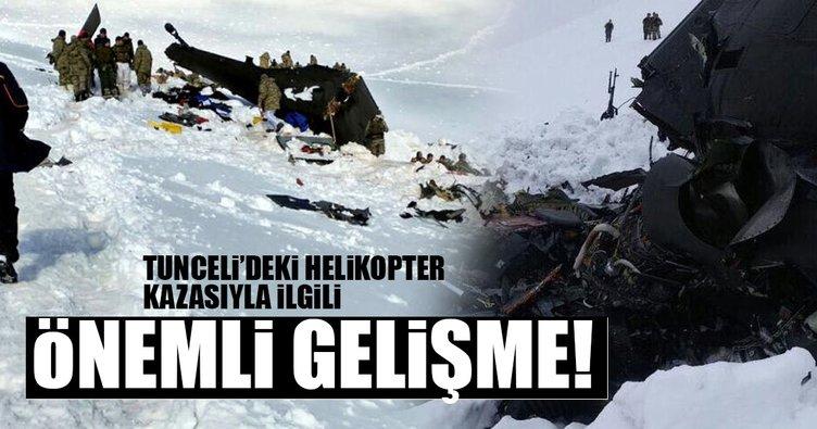 Tunceli'de düşen helikopterle ilgili flaş gelişme