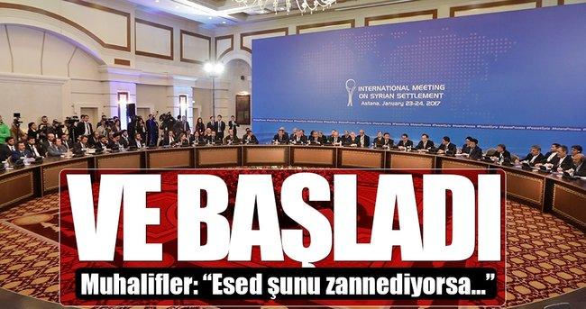 ASTANA TOPLANTISI 'ATEŞKES' KONUSU İLE BAŞLADI!