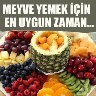 Meyve yemek için en uygun zaman…