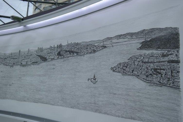 Dahi Bellek, İstanbul'u çizdi