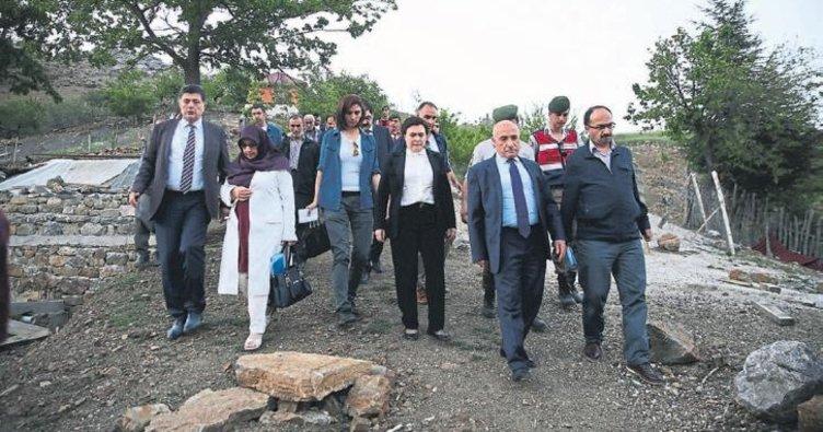 Komisyon üyeleri Aladağ'da çalıştı