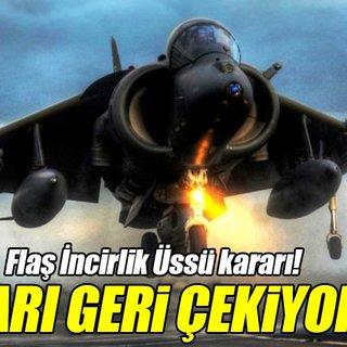 Danimarka İncirlik'teki savaş uçaklarını geri çekiyor!