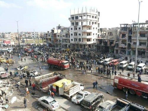 Humus'ta çifte bombalı saldırı