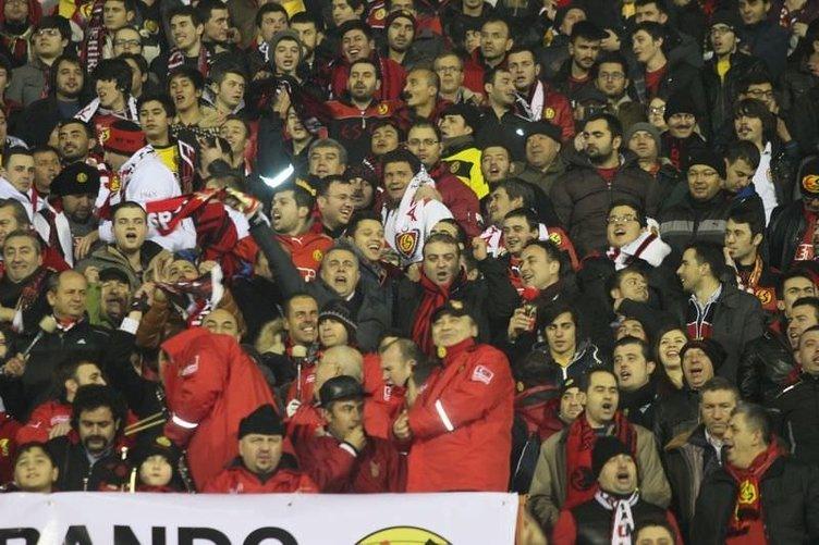 Eskişehirspor - Fenerbahçe maçından kareler