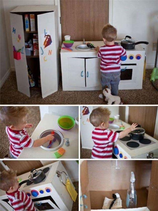 Çocuklara özel kolay yapılabilen oyun alanları!