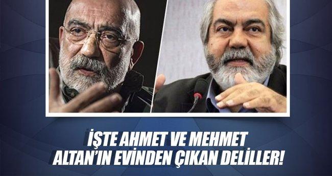 İşte Ahmet ve Mehmet Altan'ın evinden çıkan deliller!