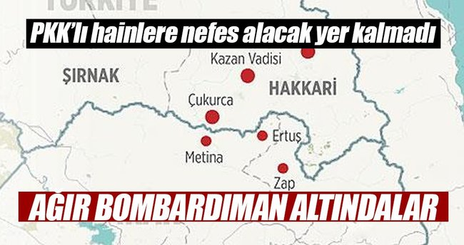 Güvenlik güçleri Çukurca'da teröristlere nefes aldırmıyor