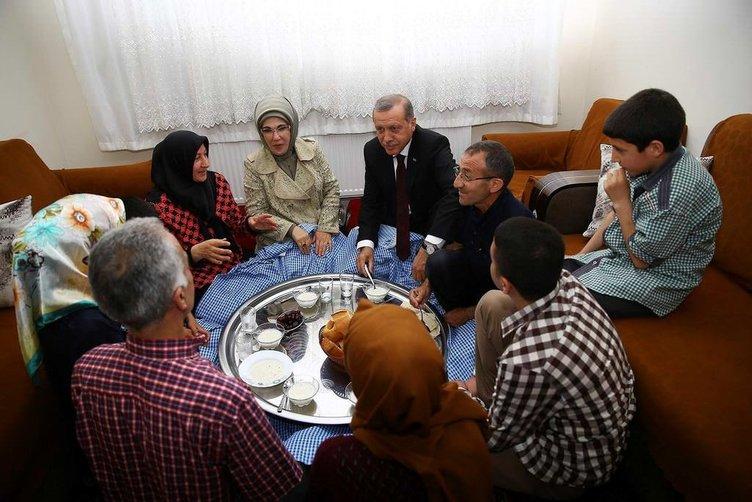 Cumhurbaşkanı Erdoğan iftar sofrasına konuk oldu