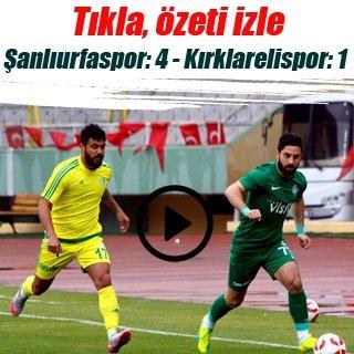 Şanlıurfaspor, Kırklarelispor'u rahat geçti