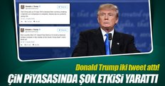 Trump iki Tweetle Çin'i salladı para birimi düştü