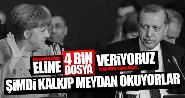 Erdoğan'dan Merkel'e gönderme!