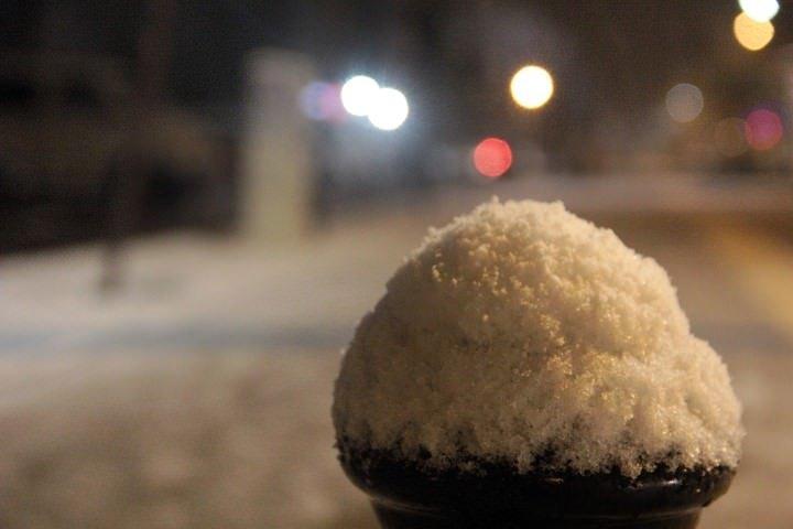 Erzurum'a kar yağdı