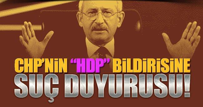 Ak Parti'den CHP bildirisine suç duyurusu