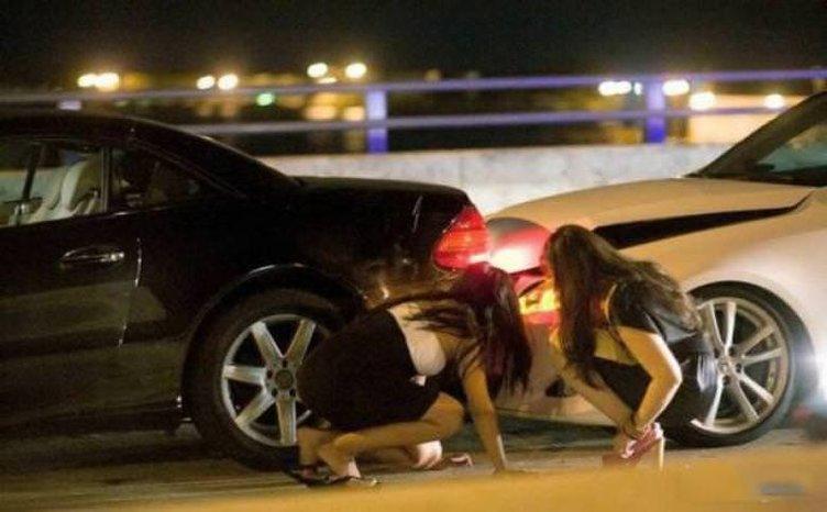 Kadınların otomobillerle ilginç anları