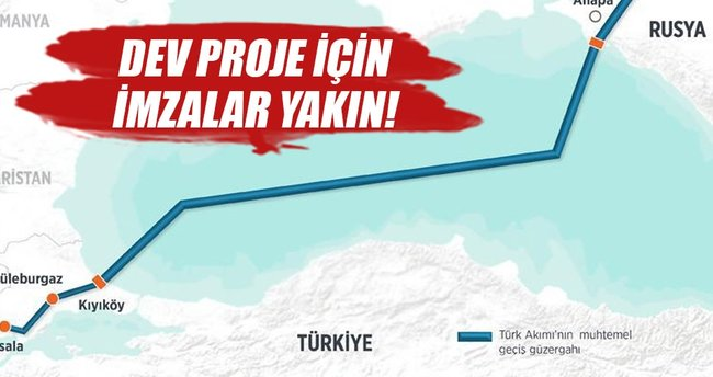 'Türk Akımı'nda imzalar yakın