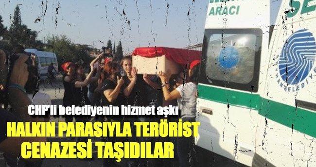 CHP'li belediye terörist cenazesine araç tahsis etti