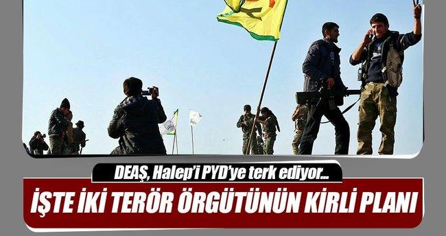 DEAŞ Halep'in kuzeyini PYD/PKK'ya terk ediyor