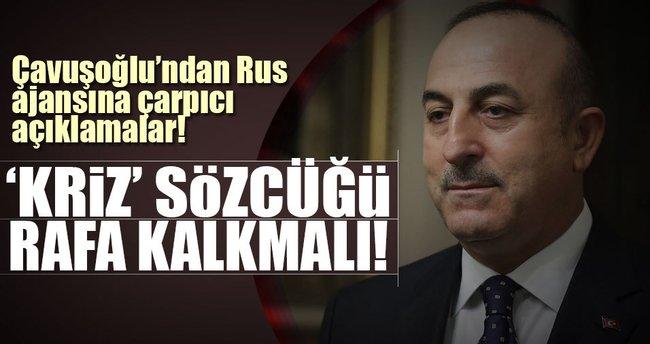 Çavuşoğlu'ndan Rus haber ajansı Tass'a çarpıcı açıklamalar!