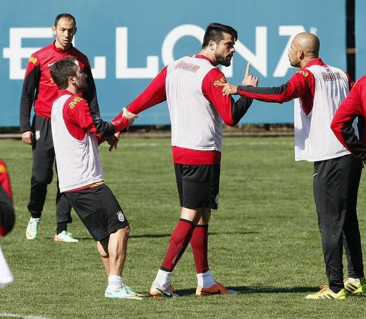 Galatasaray antrenmanında gerginlik