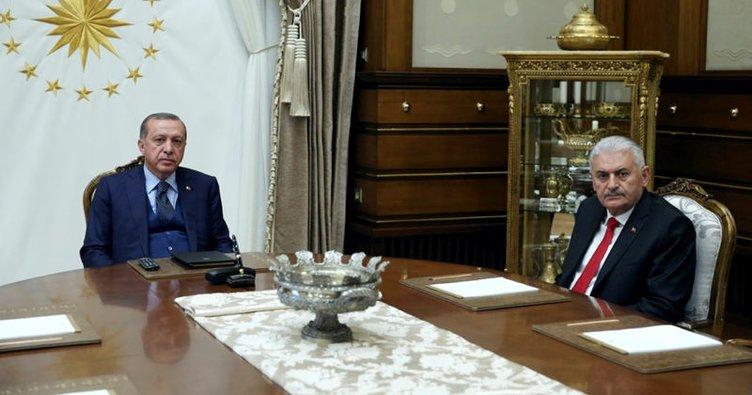 Cumhurbaşkanı Erdoğan, Başbakan Yıldırım'ı kabul etti!