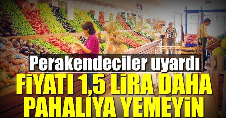 'Bizde domates 1.5 lira daha pahalıya yemeyin'
