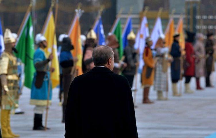 Ankara'da Aliyev'e görkemli karşılama