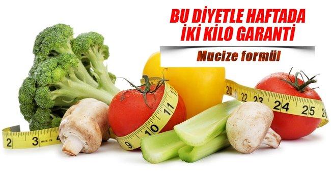 BU DİYETLE HAFTADA İKİ KİLO GARANTİ