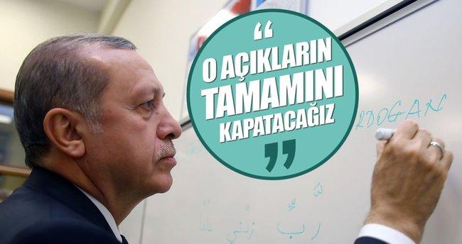 Erdoğan: FETÖ'nün kullandığı açıklar kapatılacak
