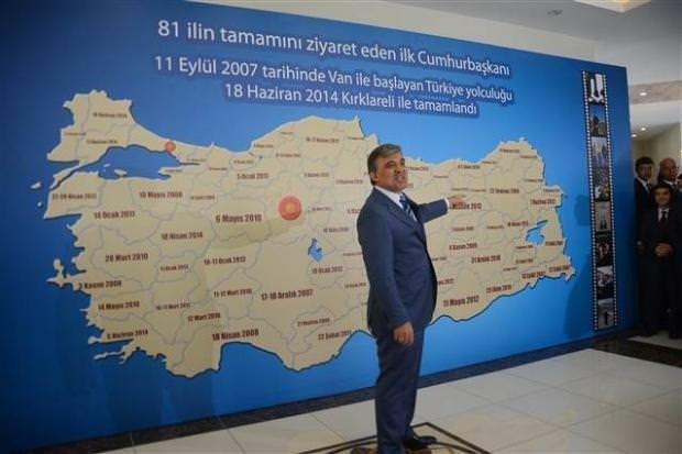 Cumhurbaşkanı Gül'e dev Türkiye haritası