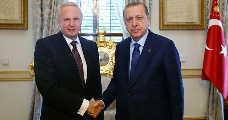 Cumhurbaşkanı Erdoğan BP Grup CEO'su Dudley'i kabul etti