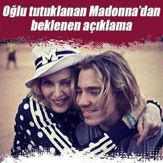 Oğlu tutuklanan Madonna'dan ilk açıklama