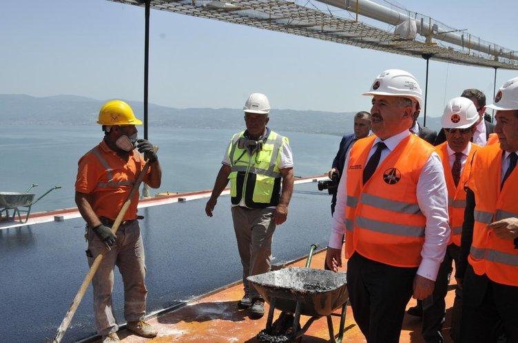 Ulaştırma Bakanı'ndan Osmangazi Köprüsü'nde inceleme