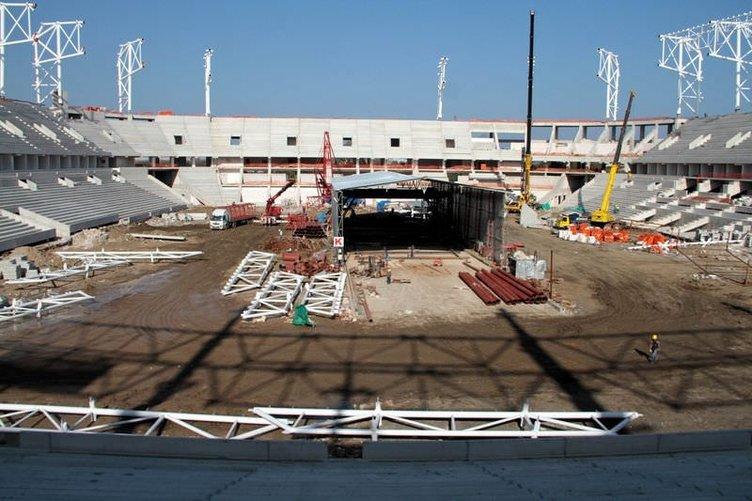 Samsun'un yeni stadı tamamlanıyor