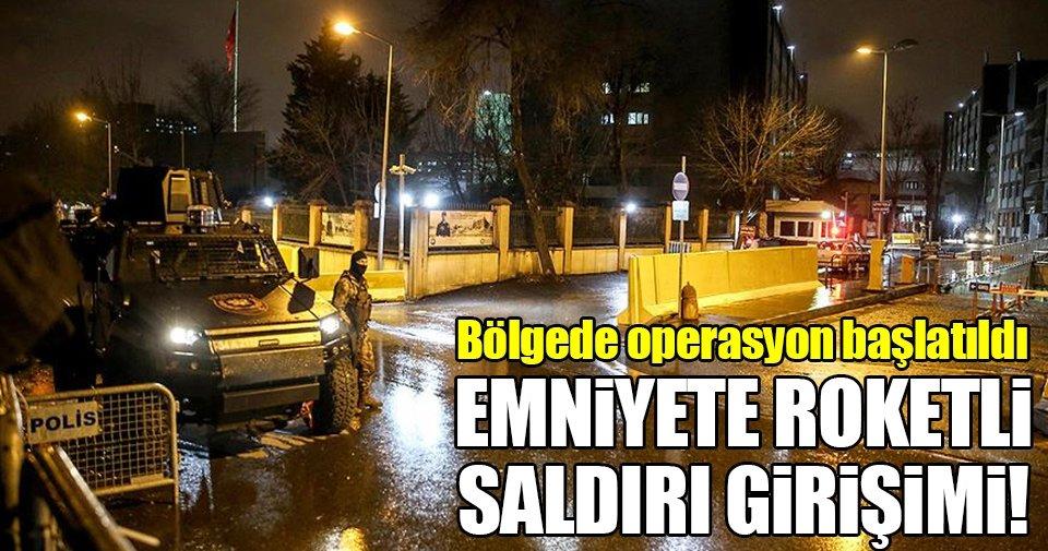 SON DAKİKA: İstanbul Emniyet Müdürlüğü'ne roketli saldırı girişimi!
