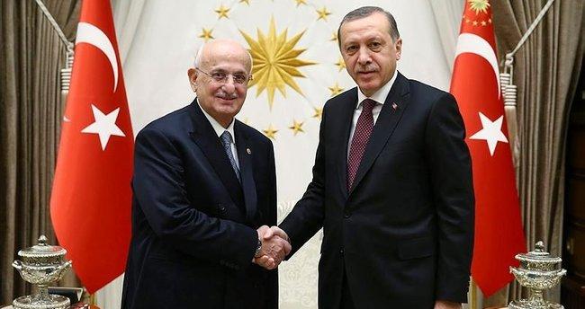 Cumhurbaşkanı Erdoğan, TBMM Başkanı Kahraman'ı kabul etti