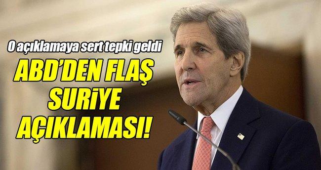 ABD'den flaş Suriye açıklaması!