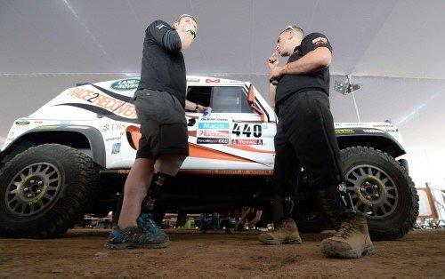 Gaziler Dakar Rallisi'nde