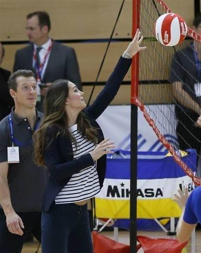 Prenses voleybol oynarsa