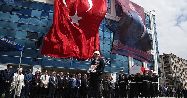 Bursa'daki şehit polis memuru için tören düzenlendi