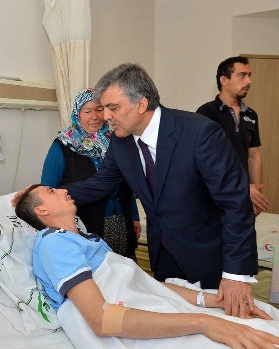 Cumhurbaşkanı Gül facia bölgesinde