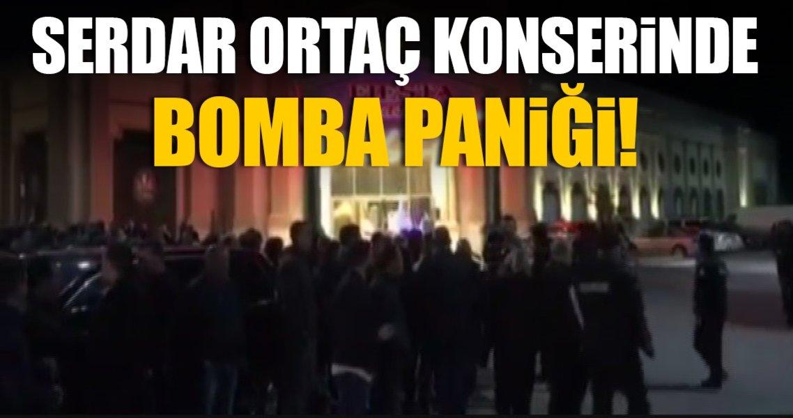 Serdar Ortaç konserinde bomba paniği