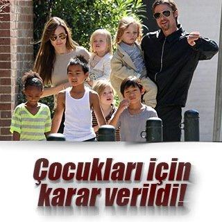 Angelina Jolie ve Brad Pitt'in çocukları için karar verildi